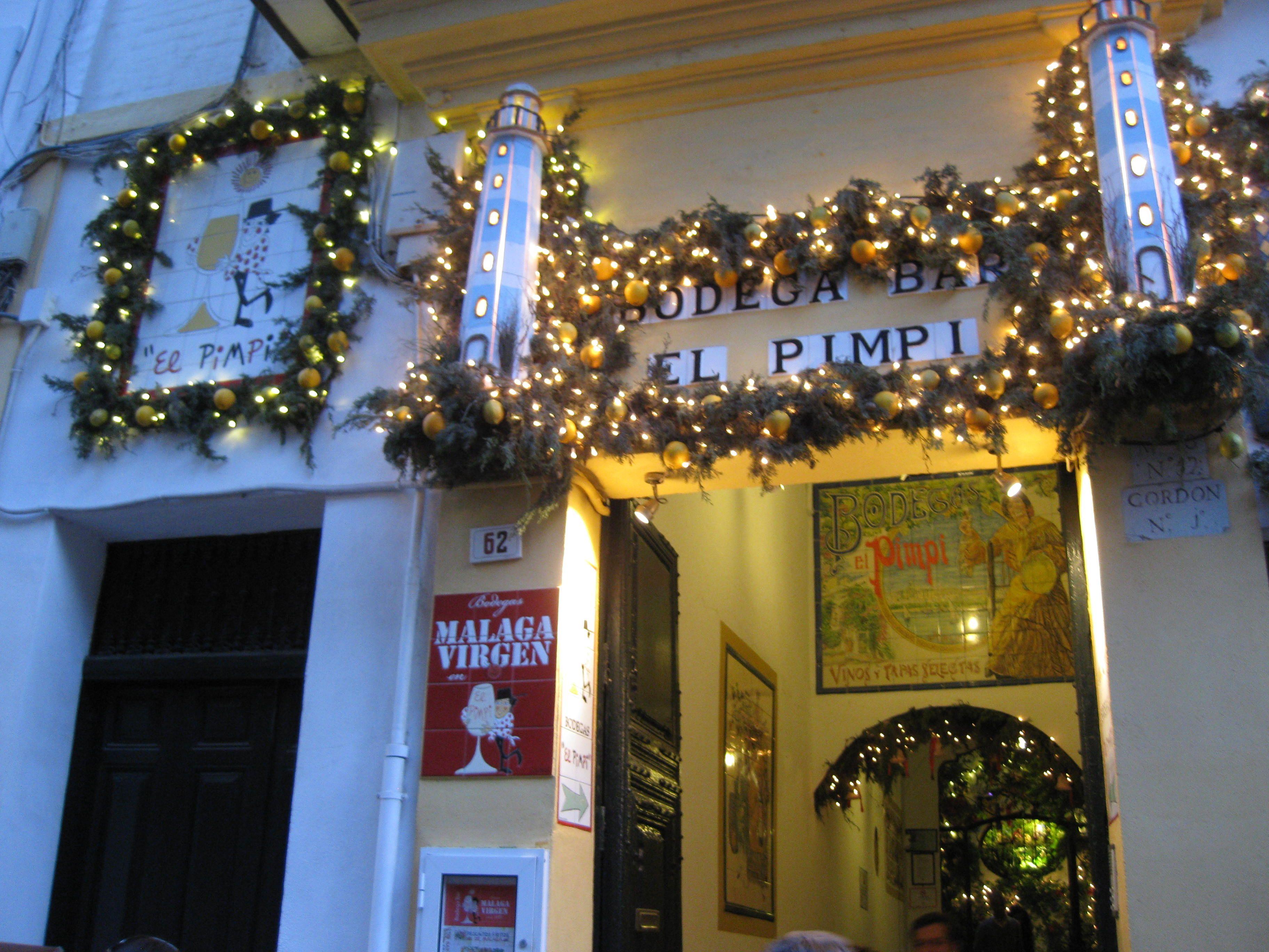 The Famous Bodega Bar El Pimpi In Malaga Centre Granada Street