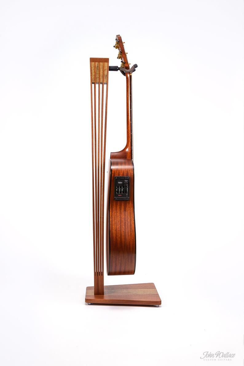 Wooden custom guitar stand #customguitars