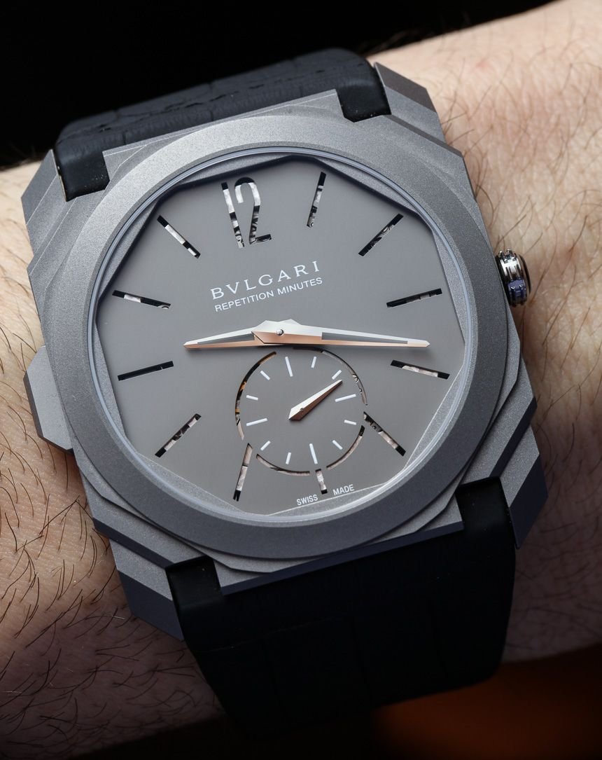 c505486be39 Hands-On With Four Amazing Bulgari Minute Repeater Watches In Titanium  Relógios Fashion
