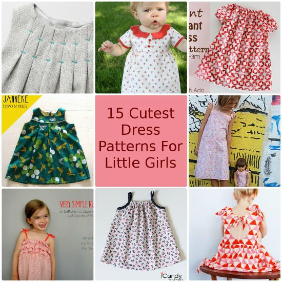 15 Cutest Free Dress Patterns for Little Girls | Sewing patterns ...