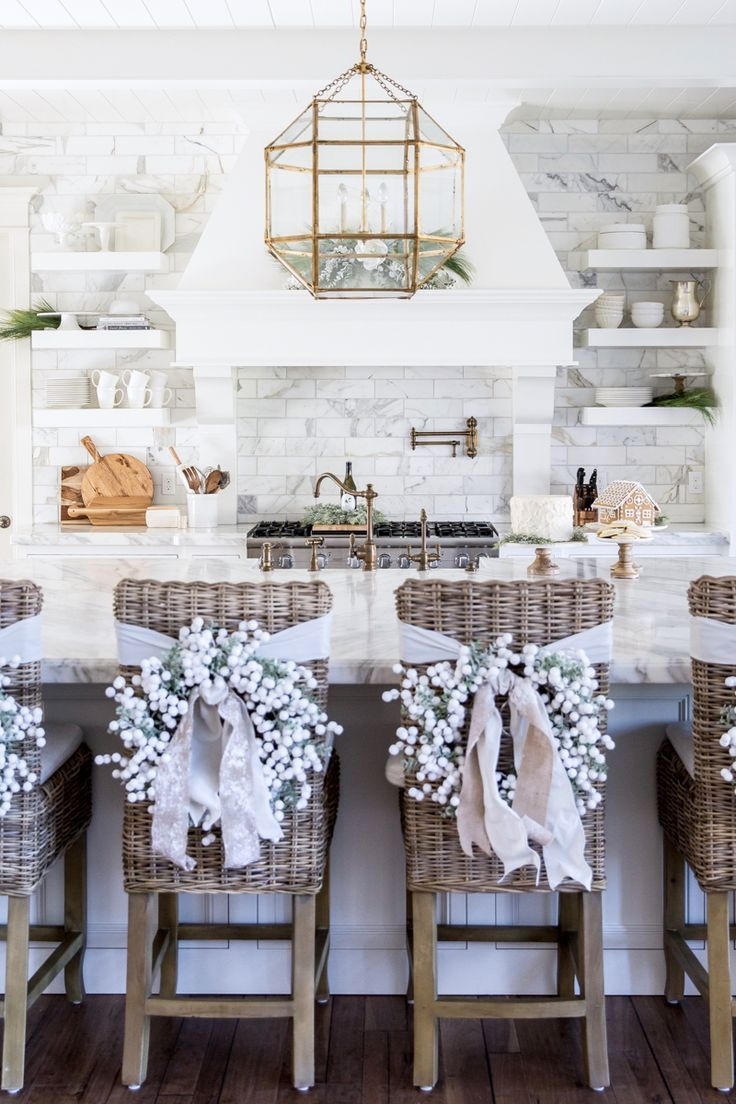 Winter White & Holiday Red | Christmas decor, Kitchens and Holidays