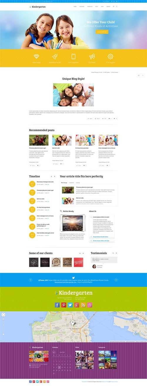 Kindergarten : Children WordPress Theme | UI | Pinterest | Wordpress ...