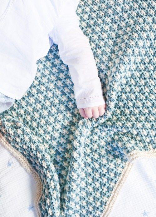 Strickset Pima Baumwolle Frisbee Blanket 1 | Babydecke stricken ...