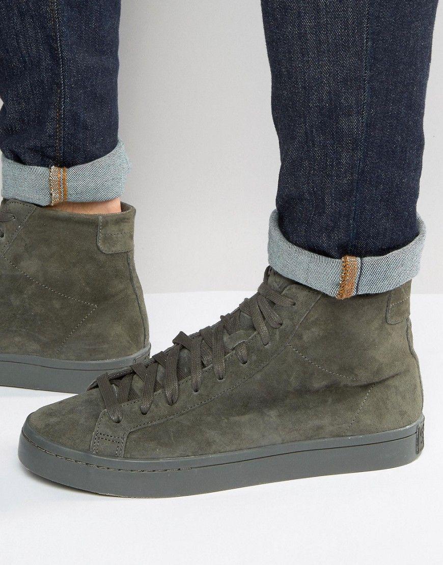 49bf0e640ff2 ADIDAS ORIGINALS COURT VANTAGE MID SNEAKERS IN GREEN BB0158 - GRAY.   adidasoriginals  shoes