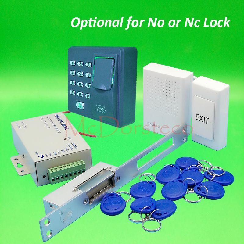 Diy full long type electric strike lock door system kit