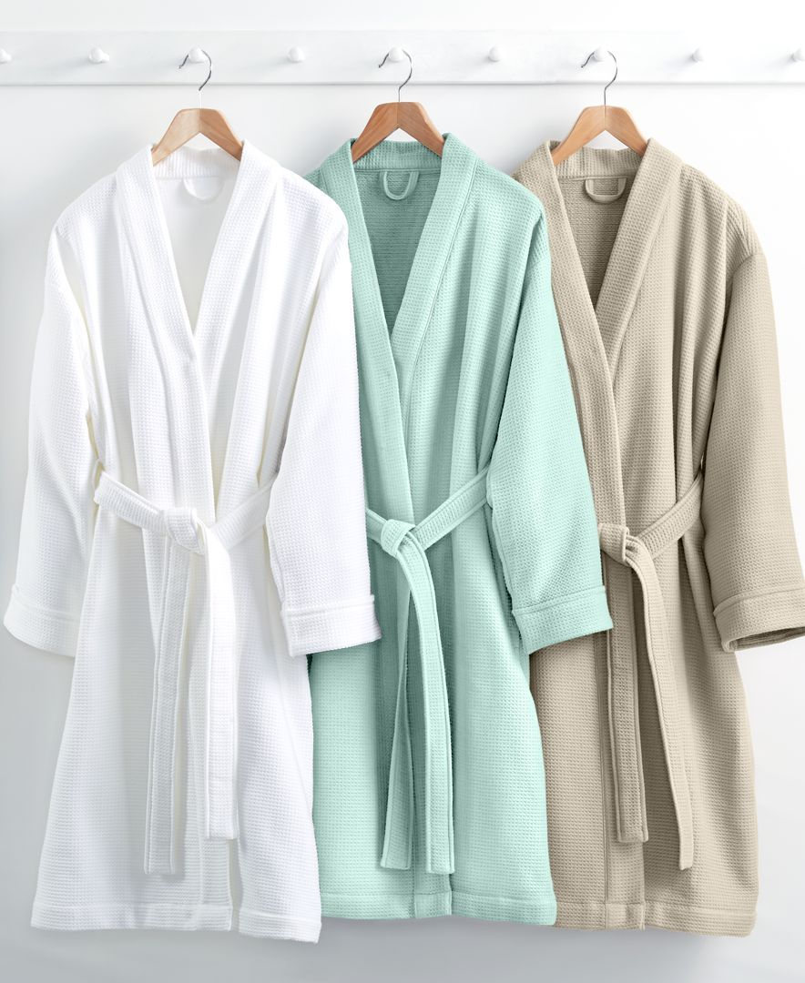 e0e616013d Embrace spa luxury with our Hotel Collection Waffle-Weave bath robe. An  ultra-absorbent waffle-weave texture gives way to smooth cotton lining for  dreamy