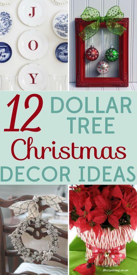 12 Dollar Tree Christmas Decor Ideas Christmas/Winter Pinterest