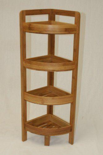 Ehemco 4 Tier Bamboo Corner Shelf In Dark Oak Ehemco Http Www