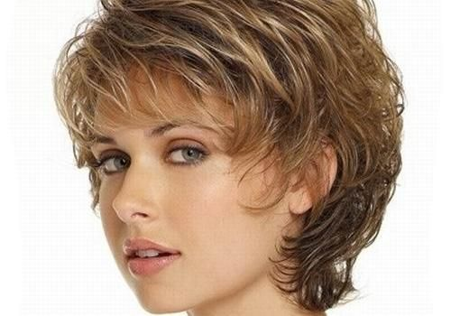Hair Style 50 Year Old: Short Curly Hairstyles For Over Wavy Bangs