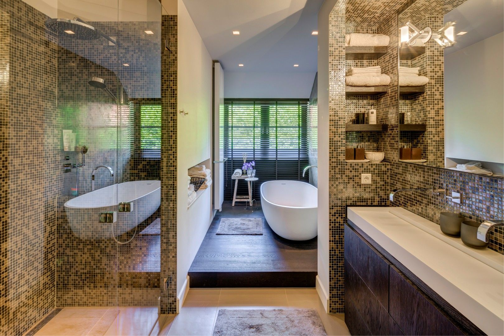 Badkamer ontworpen door de architecten en stylisten van kabaz