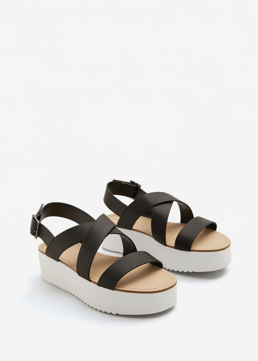 Platform strap sandals - Women | MANGO USA