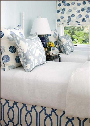 Really Like The Patterned Bedskirt With The White Duvet And