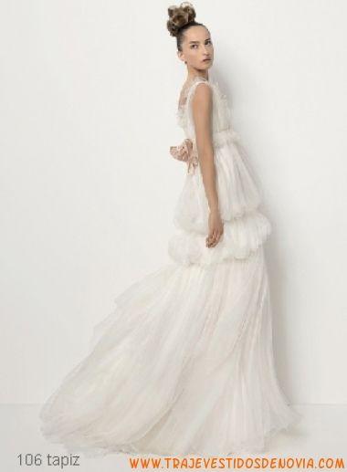 tapiz vestido de novia christian lacroix para rosa clar | weding