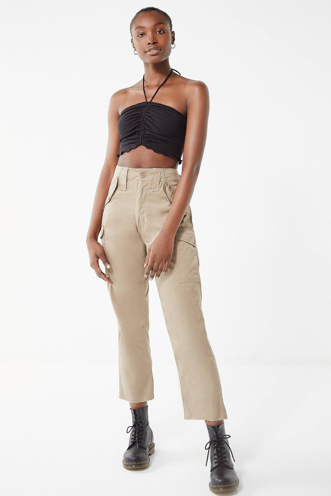 Arte Bella Surplus Urban Renewal Remade Surplus Cropped Cargo Pant Urban Outfitters