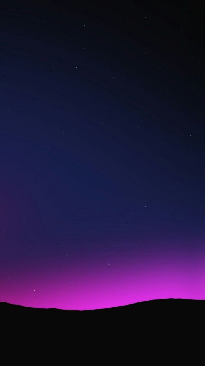 Purple Sky Night Stars Simple iPhone Wallpaper