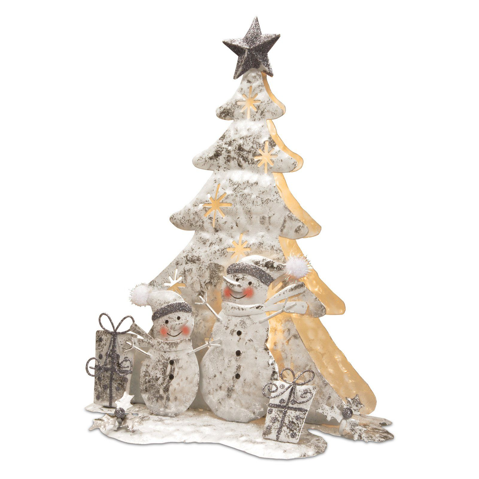 National Tree Company White Wire Both Sided Christmas Tree with ...