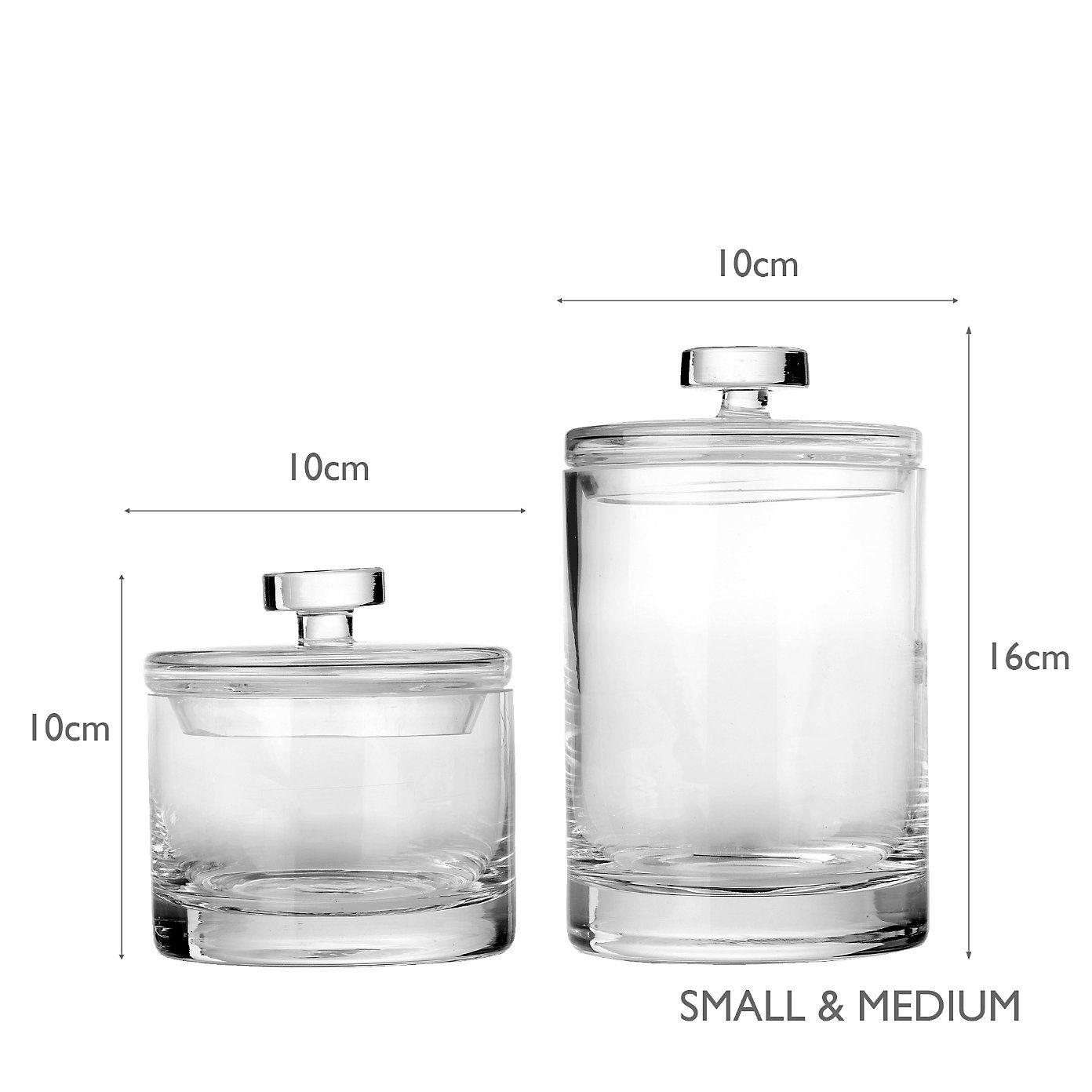 Buy Bathroom > Bathroom Accessories > Glass Storage Jars from The ...