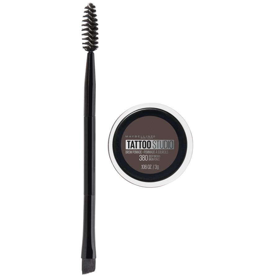 Maybelline TattooStudio Brow Pomade Long Lasting, Buildable, Eyebrow Makeup, Deep Brown, 0.106 oz. - Walmart.com