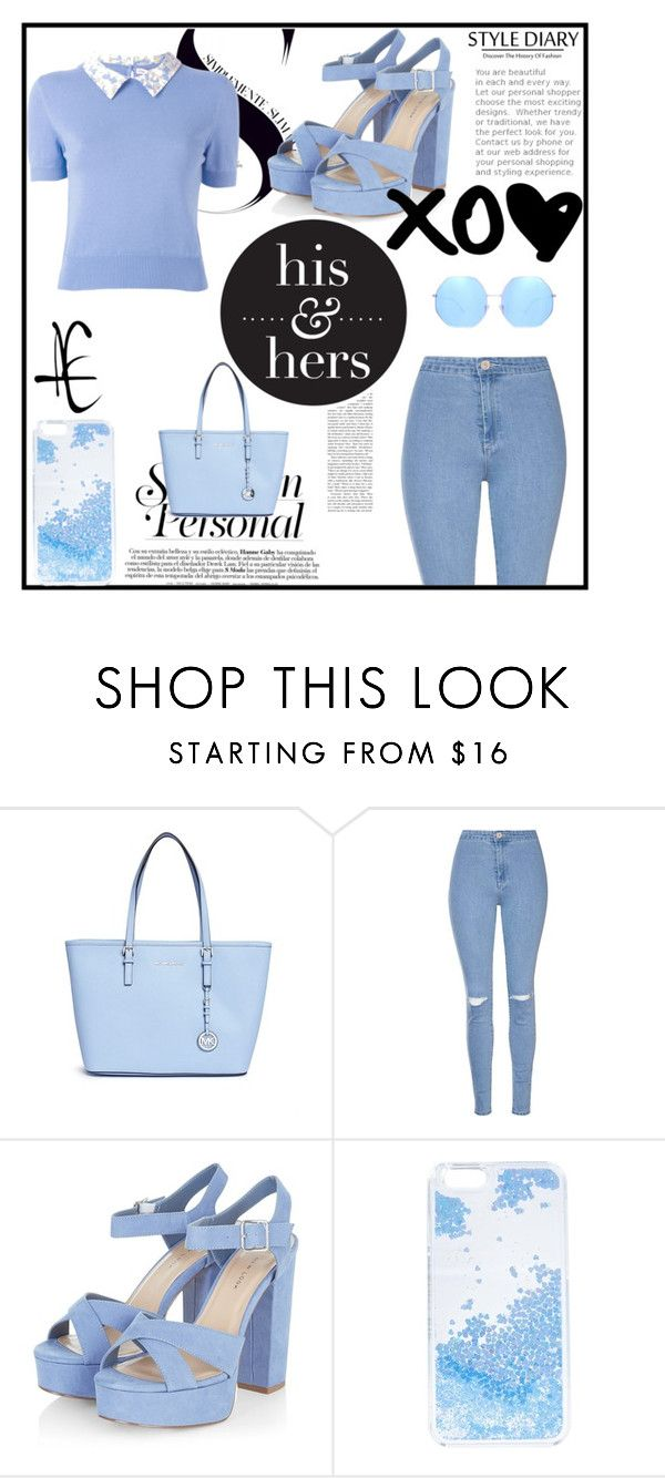 """Blue Jeans"" by killerbarbiexoxo-123 ❤ liked on Polyvore featuring Michael Kors, Glamorous, Olympia Le-Tan, Skinnydip and Quay"