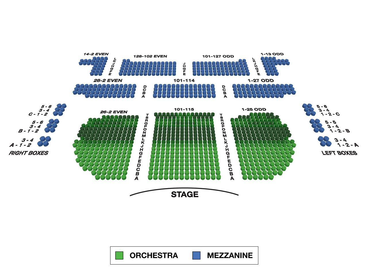 Eugene O'Neill Theatre Broadway 3D Seating Chart Large | Theater ...