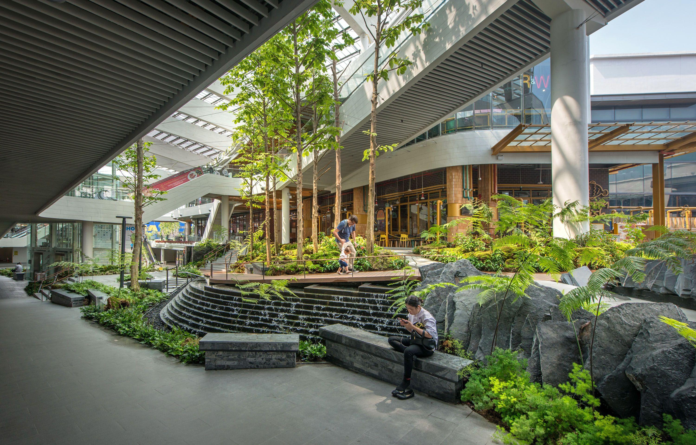 Mega Food Walk At Mega Bangna Landscape Collaboration Indoor Landscape Design Landscape Design Landscape