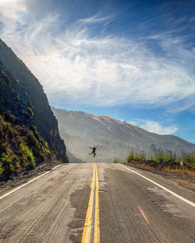 This is how I feel about tomorrow!! The biggest day of my life thus far im so thankful and so exited. Here's a picture of me jumping as high as I can on the pacific highway 1 in big sur. I can't wait to go back. Who's coming with me? ➖ ➖ ➖ #landscapephotography  #landscapelover#landscape_captures #landscapes #landscape_photography #pixel_ig #landscape_hunter #landscape_lovers #landscapecaptures#landscapestyles_gf #landscape_specialist #agameoftones #ig_masterpiece #ig_exquisite #ig_shotz #glob