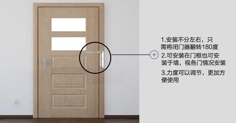 Door Closer Home Light Automatic Door Closer Invisible Door Spring Door Bow Buffersimple Closure Round Mirror Bathroom Furniture Accessories Home Decor Decals