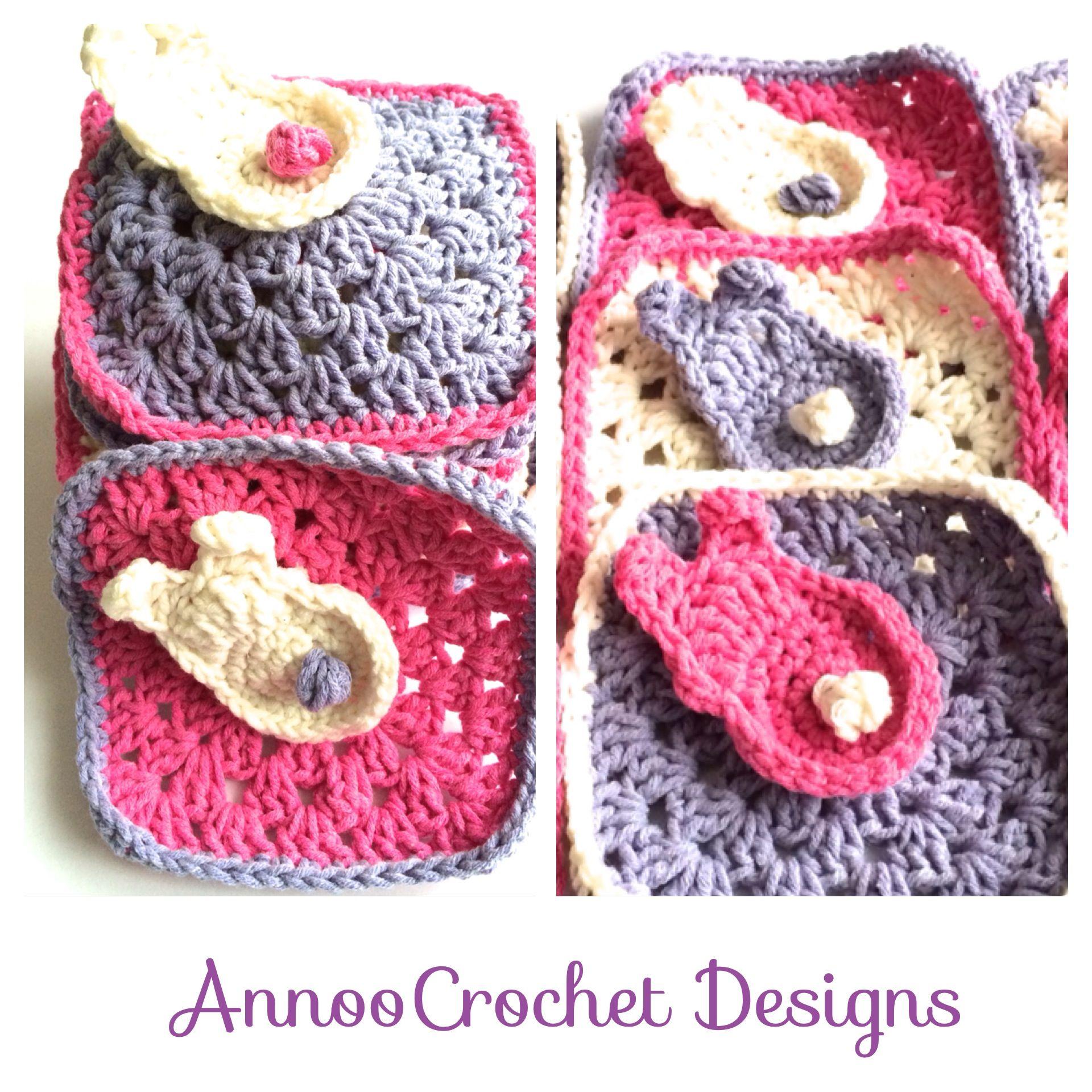 Spring Bunny Granny Free Tutorila By AnnooCrochet Designs | Comida a ...