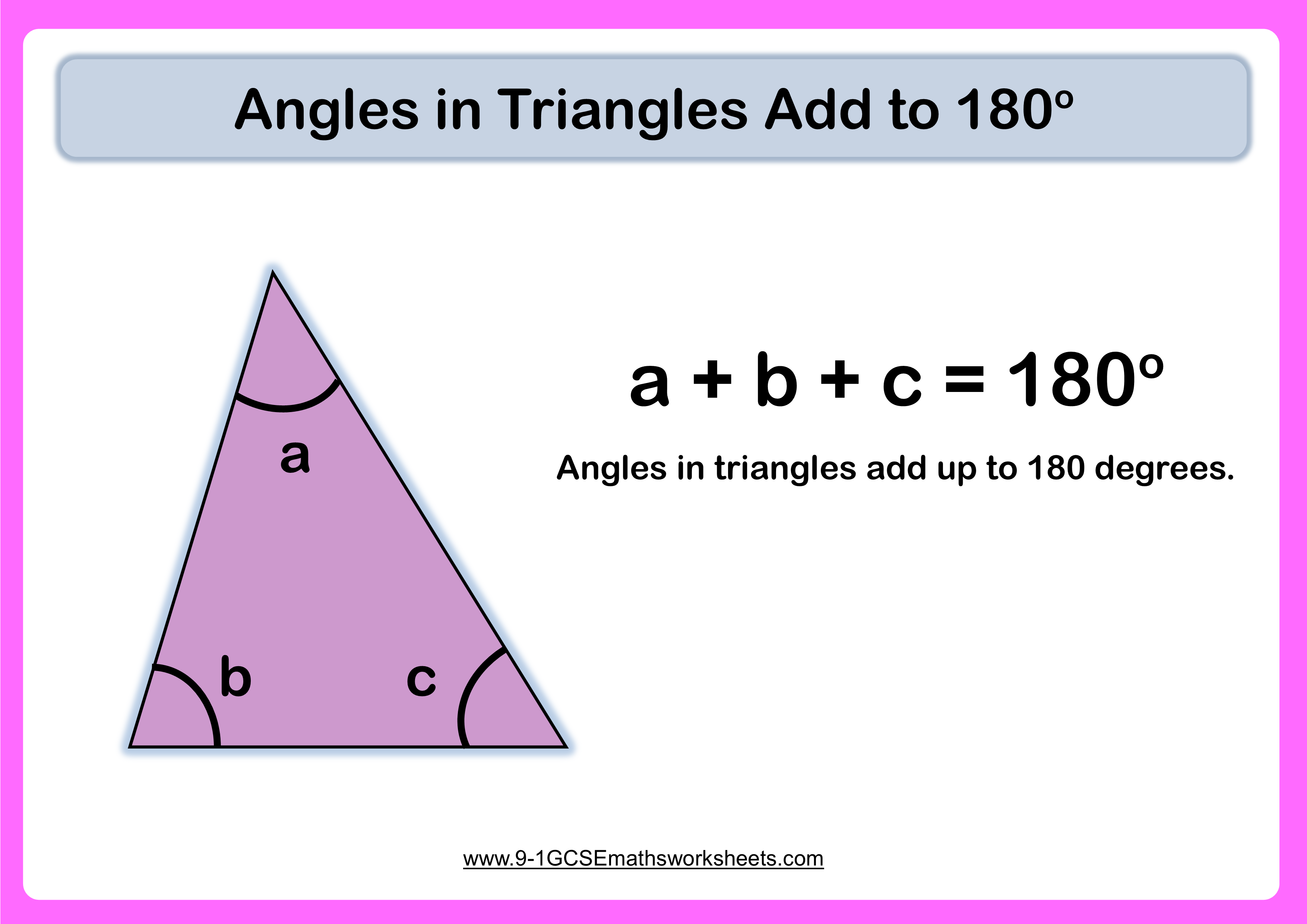 Angles In Triangles Example
