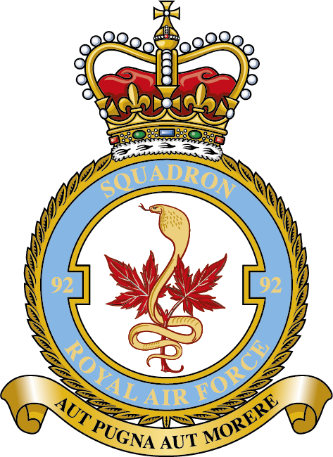 92 Squadron Royal air force, Air force aircraft
