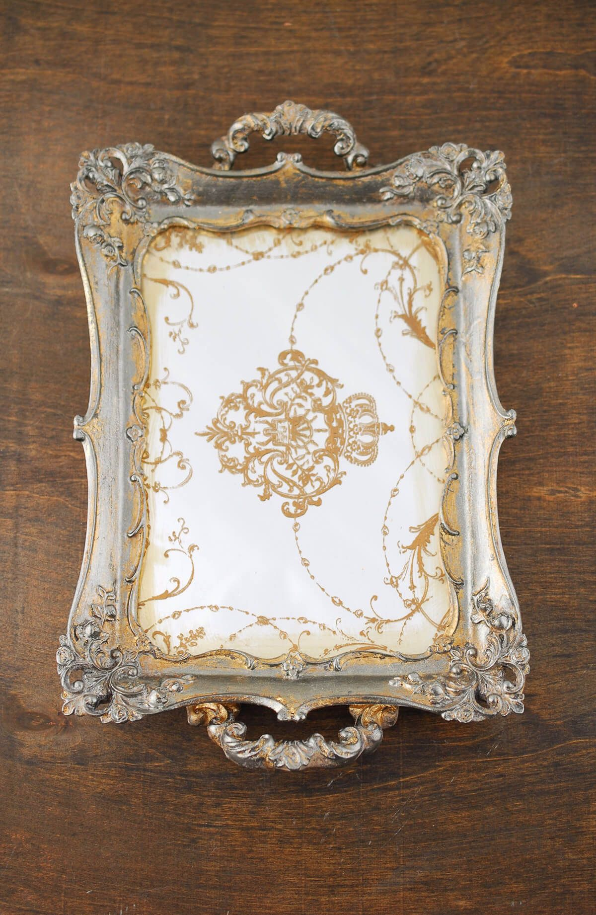 Antique style mirror tray | Mirror tray, Vintage mirrors and Trays