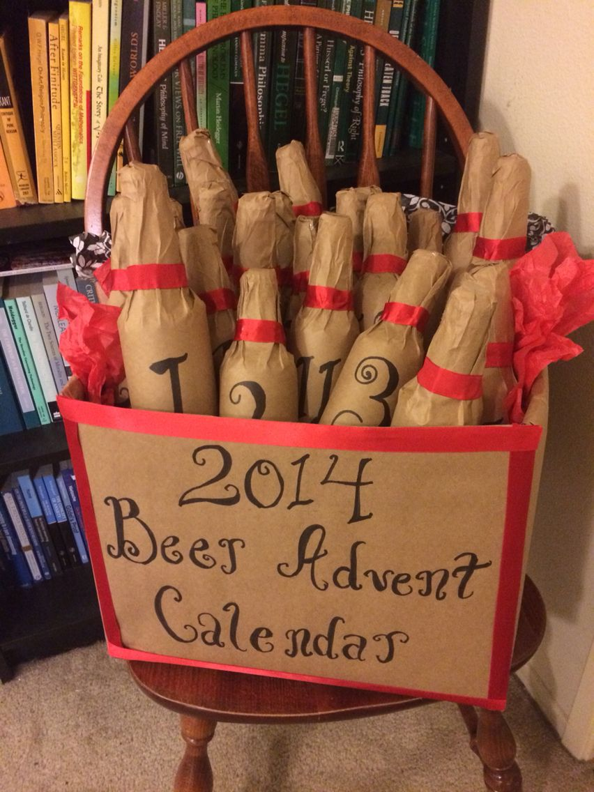 Beer Advent Calendar Diy : Beer advent calendar holiday shit pinterest