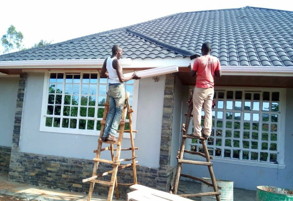 Africa Rain Collectors And Drainage To Complete House Pvc Roofing Gutters Downspout