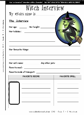 witch writing activity