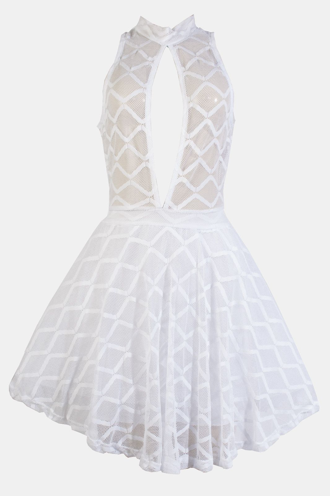 Lace mesh skater dress products pinterest products