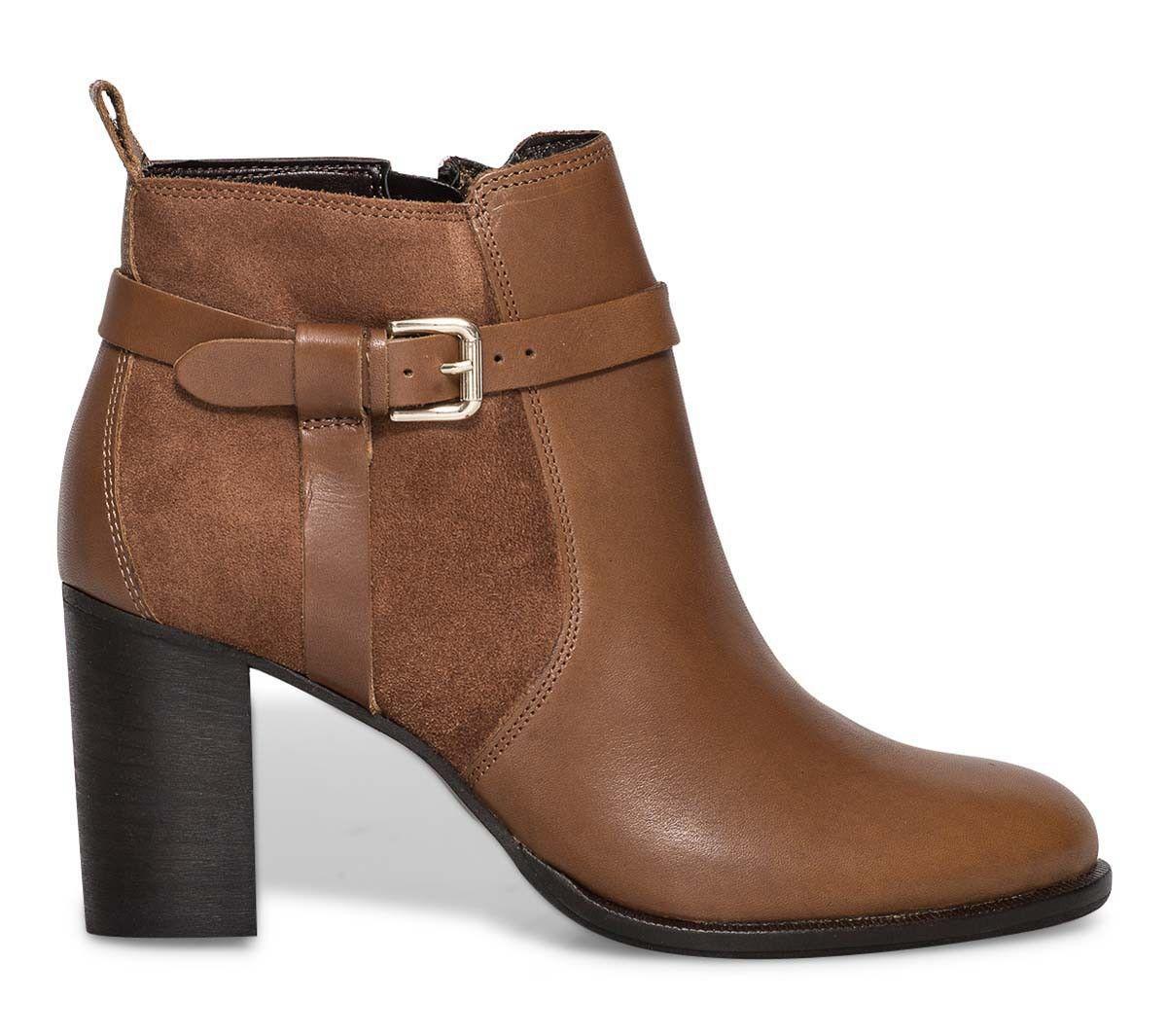 bottes plates femme cuir marron. Black Bedroom Furniture Sets. Home Design Ideas