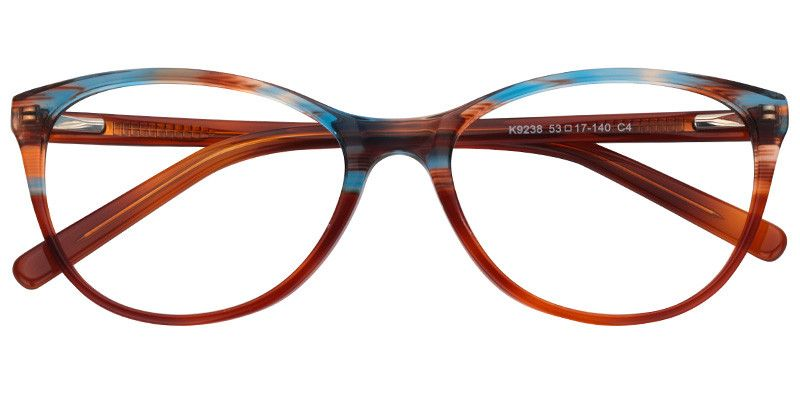 b77c16f5253 Gladys Brown Blue Cat Eye Glasses Prescription Eyeglasses 0409-01 in ...