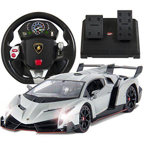Best Choice Products 114 Scale Rc Lamborghini Veneno Realistic Driving Gravity Sensor Remote Control Car Sil Lamborghini Veneno Remote Control Cars Lamborghini