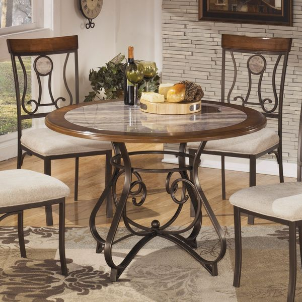 Exceptional Signature Design By Ashley Hopstand Round Dining Table   Overstock™  Shopping   Great Deals On Signature Design By Ashley Dining Tables