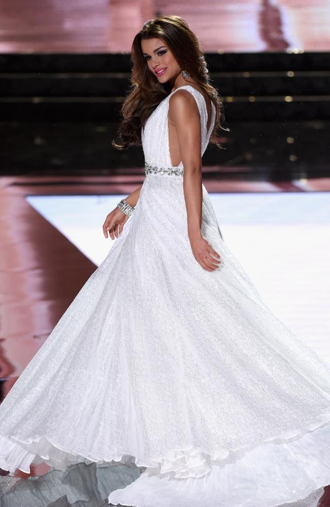 Miss Dominican Republic 2015, Clarissa Molina, competes in the ...