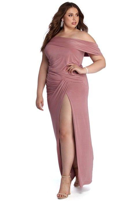 2e6f6b8a3e82 Plus Kaleigh Off Shoulder Dress in 2019