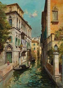 Felice Giordano - Canale a Venezia