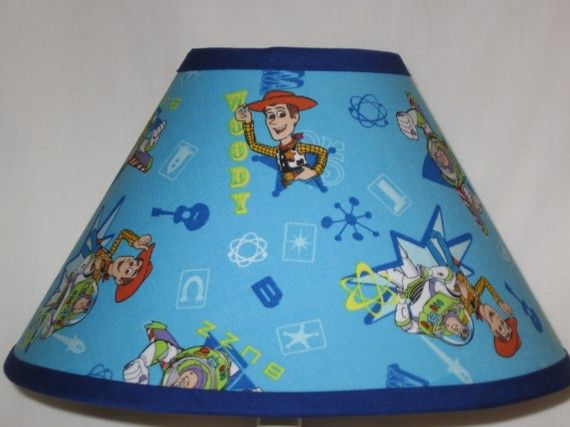 Toy Story Childrens Lamp Shade By Cassycustomcreations On Etsy Childrens Lamps Lamp Shade Toy Story Fabric
