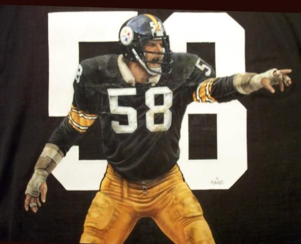 quality design 31984 c1834 Hand painted Jack Lambert jersey - Done in acrylics on an ...
