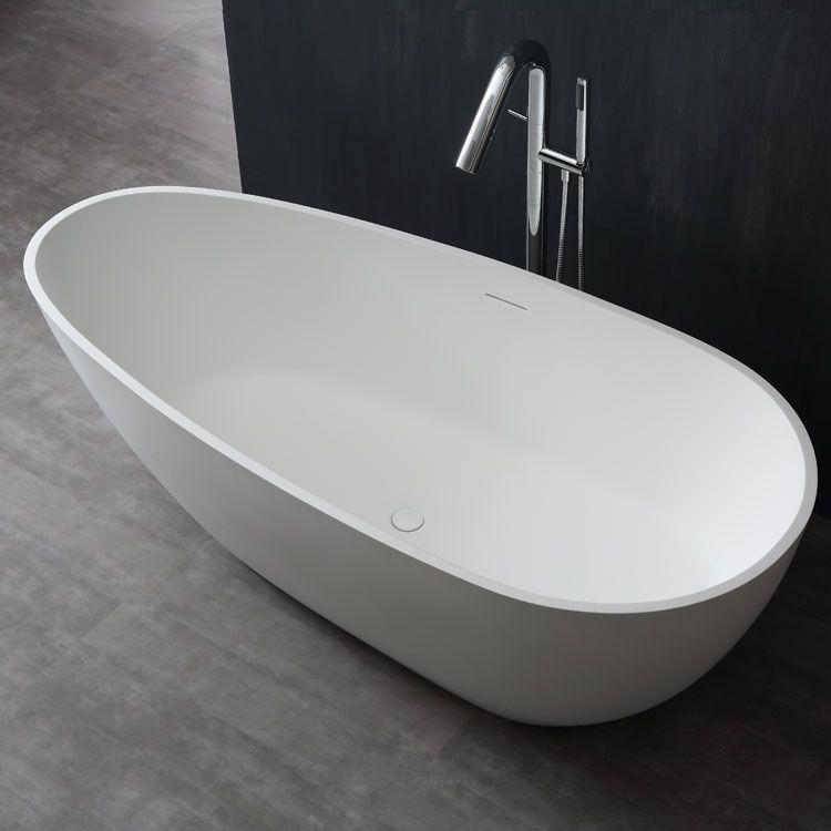 StoneArt Badewanne freistehend BS505 weiß 171x85cm matt