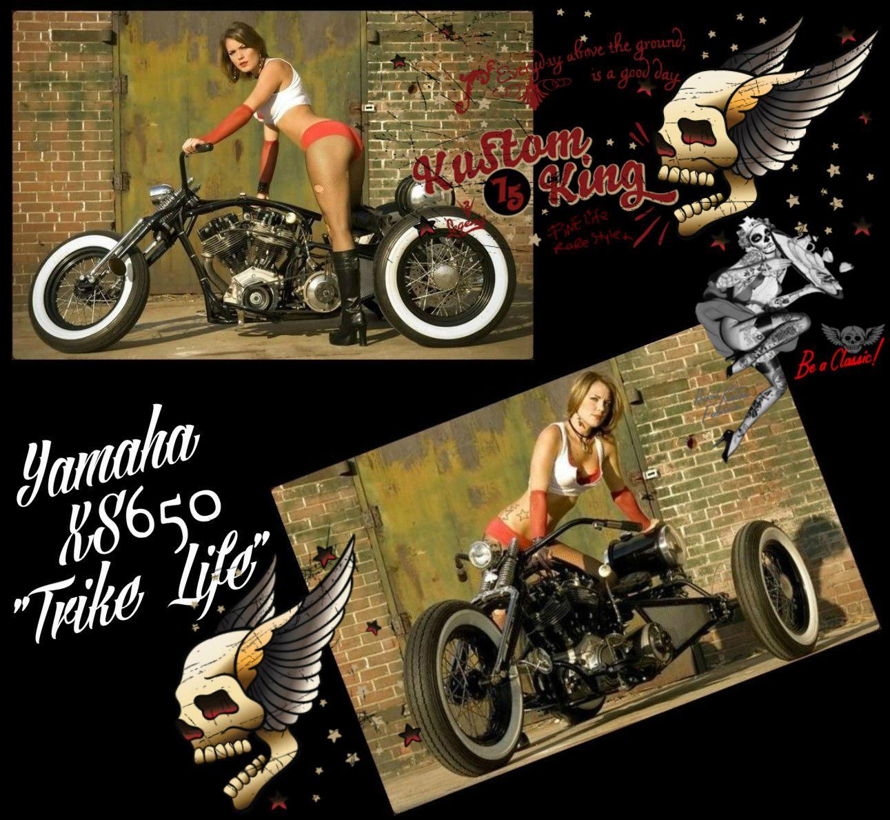 "Yamaha XS650 Trike ""Trike Life"".    http://kustomking.blogspot.co.uk/2011/08/trike-life.html"