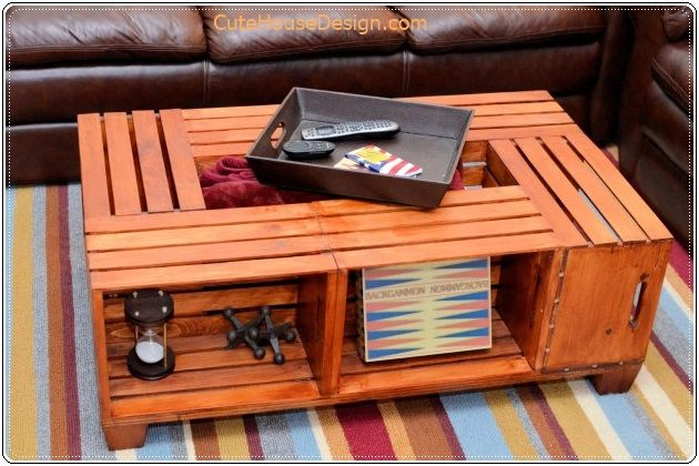 Coffee Table From Crates 3