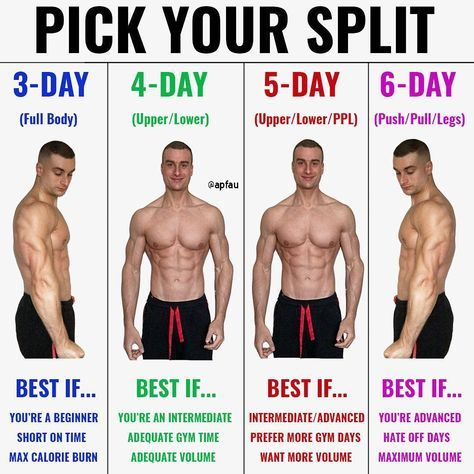 8 powerful muscle building gym training splits  workout