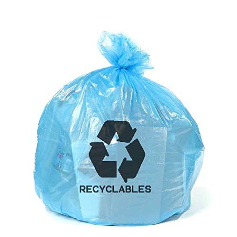 3b6dd1f7da0d6 12-16 Gallon Recycling Bags with Symbol - 250/Case - Blue by ...