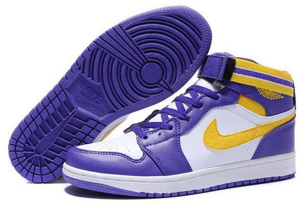 Mens Shoe Retro White Purple Yellow Nike Air Jordan 1 For Sale Http Www Umjordanshoes Com Um8527 Html Nike Air Jordan Shoes Air Jordans Air Jordan Shoes